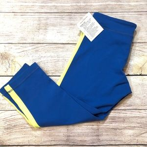 Lululemon blue and yellow crop leggings